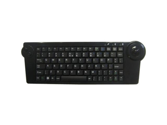 SolidTek KB-4251B Black 2.4GHz Wireless Keyboard with Trackball