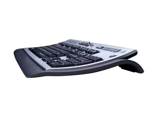 BenQ X730PRO FJ.M06C9.U31 Black / Silver 104 Normal Keys 13 Function Keys RF Wireless Slim Keyboard & Mouse