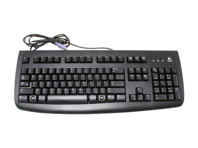 Logitech 967973-0403 Black 104 Normal Keys PS/2 Standard Deluxe 250 Desktop - OEM