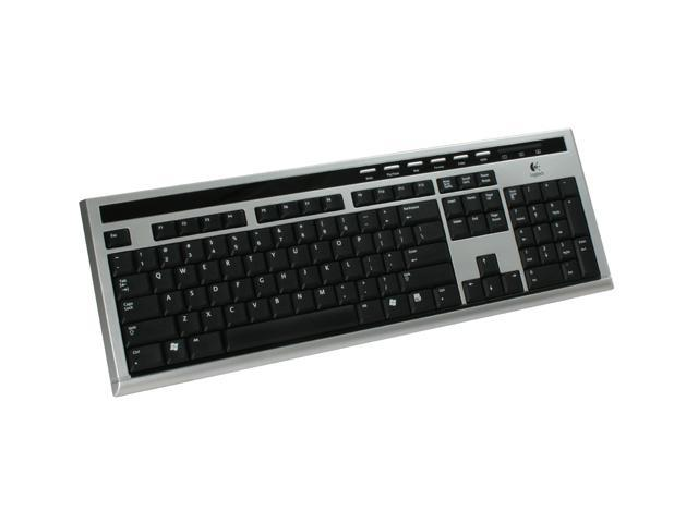 Logitech UltraX Silver/Black 104 Normal Keys 6 Function Keys USB Wired Standard Media Keyboard - OEM