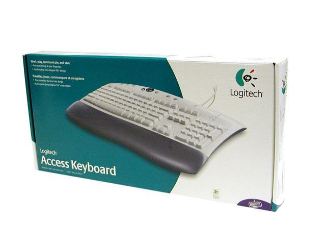 Logitech Access Beige 104 Normal Keys 8 Function Keys PS/2 Wired Standard Keyboard