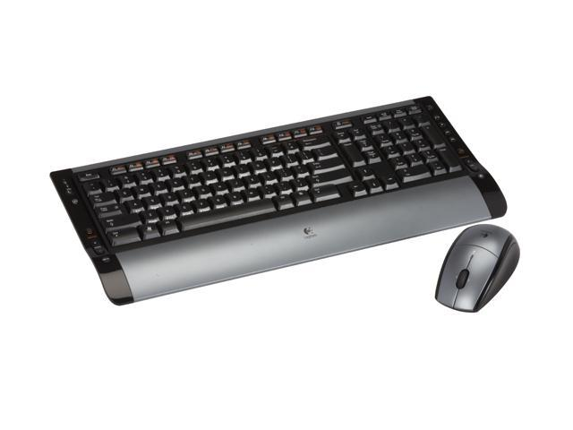 Logitech S 510 Silver/Black 104 Normal Keys 14 Function Keys RF Wireless Slim Cordless Desktop