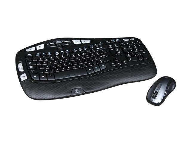 Logitech MK550 2.4Ghz Wireless Wave Keyboard and Mouse Combo - Black