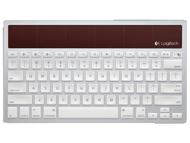 Logitech Wireless Solar Keyboard K760 for Mac, iPad and iPhone 920-003885 White Bluetooth Wireless Keyboard