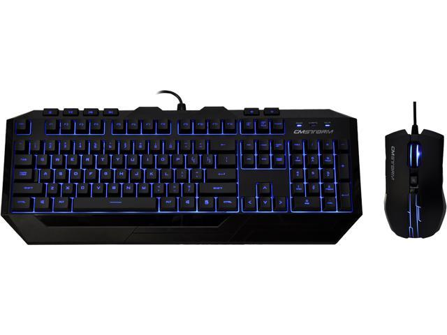 CM Storm Devastator - LED Gaming Keyboard and Mouse Combo Bundle (Blue Edition)