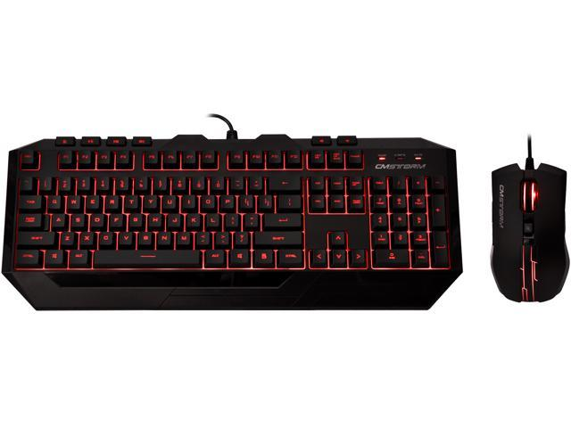 CM Storm Devastator - LED Gaming Keyboard and Mouse Combo Bundle (Red Edition)