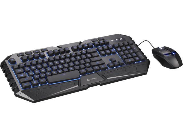 CM Storm Octane - Multicolor LED Gaming Keyboard and Mouse Combo Bundle