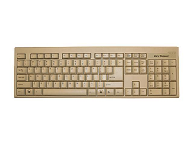 KeyTronic KT400P1 Beige PS/2 Keyboard