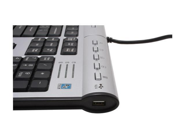 A4Tech KL-7MU 2-Tone 104 Normal Keys 17 Function Keys USB or PS/2 Wired Slim X-Slim Keyboard