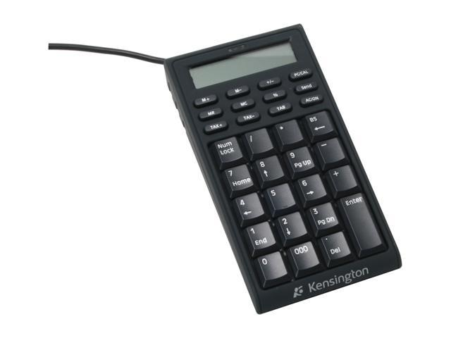Kensington K72274US Black USB Keypad Calculator Mini Notebook Keypad/Calculator with USB Hub