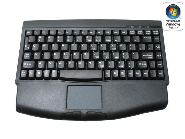 ADESSO ACK-540PB Black PS/2 Wired Mini Touch Keyboard