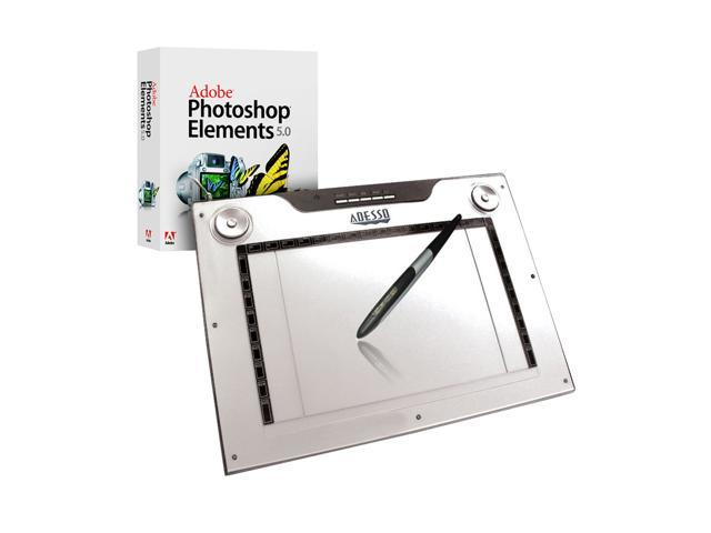 ADESSO CyberTablet M14 USB Widescreen Media Graphics CyberTablet with Adobe Photoshop Elements 5.0