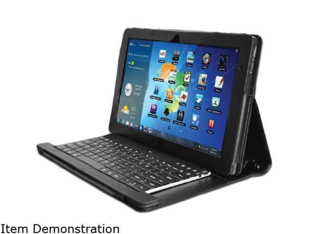 ADESSO Compagno 3S WKB-1000SB Black Bluetooth Wireless Slim Keyboard with Carrying Case for Samsung Slate PC XE700T1A