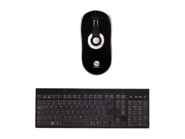 Gyration GYM5600LKNA Black 2.4 GHz Wireless Low Profile Keyboard w/ Air Mouse Elite
