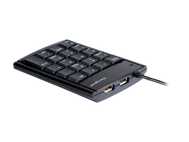 Targus PAUK10U Black 19 Normal Keys USB Wired Mini Keypad
