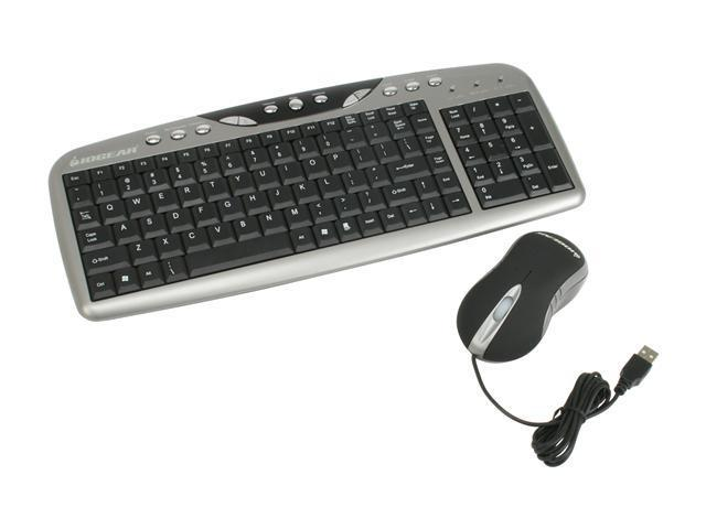 IOGEAR GKM502 Silver/Black Desktop Combo