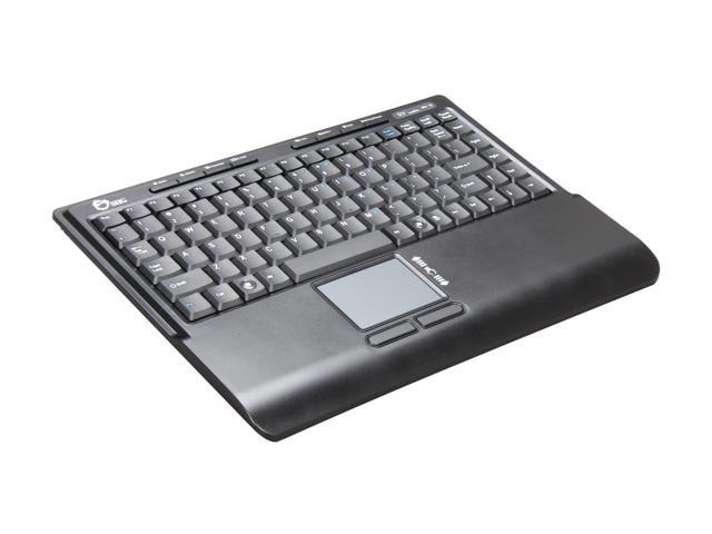 SIIG JK-WR0312-S1 Black Wireless Multi-Touchpad Mini Keyboard