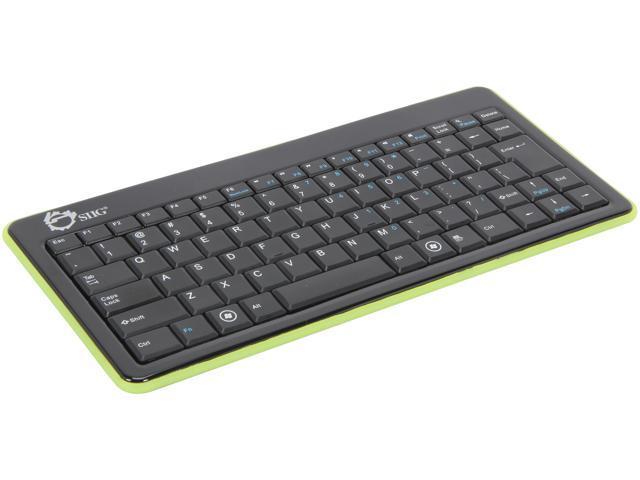 SIIG JK-BT0112-S1 Black Bluetooth Wireless Mini Keyboard