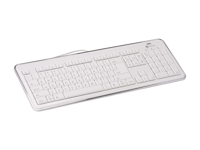 i-rocks KR-6170M White 105 Normal Keys USB Slim Full Size Mac X-SLIM Keyboard