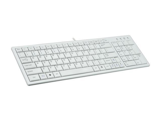 i-rocks KR-6421-WH White USB Wired Slim Ultra X-Slim Keyboard with Terrace Keycap