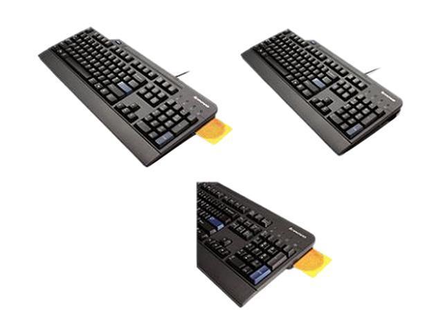 Lenovo USB Smartcard 51J0155 Black Wired Keyboard