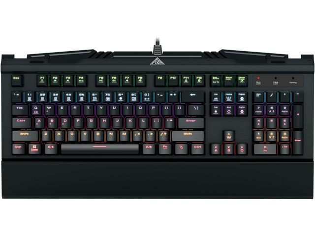 GAMDIAS GKB3000BL Hermes 7 Color Spectrum Mechanical Gaming Keyboard