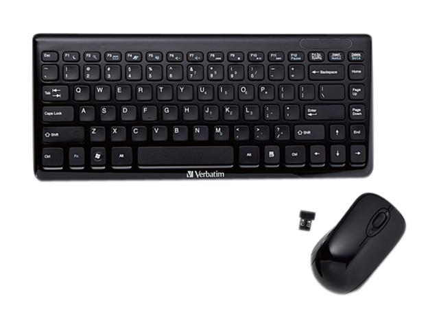 Verbatim 97472 Black USB RF Wireless Mini Keyboard and Mouse