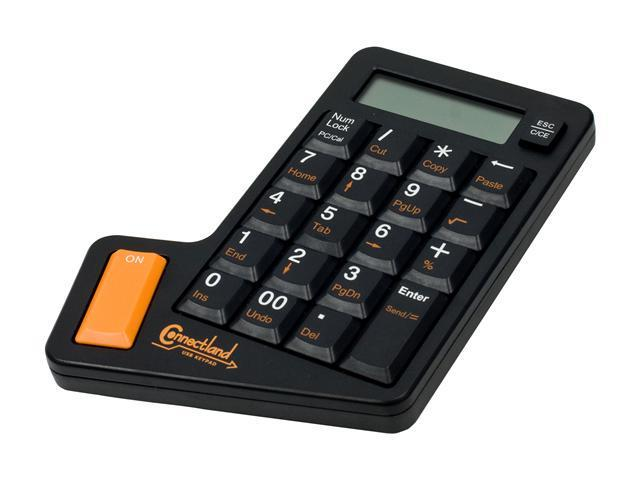 Connectland CL-KBD50006 Black USB Numeric Keypad with Calculator