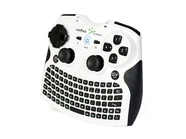 Veho MIMI-KEY-003 White Mimi Wifi Keyboard & Air Mouse with Game Controller