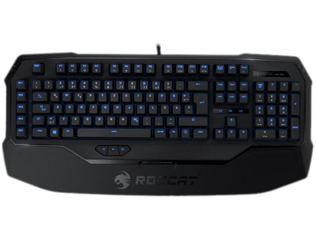 ROCCAT ROC-12-851-BK Ryos MK Pro Mechanical Keyboard with Per-key Illumination - Black Cherry MX Key Switch