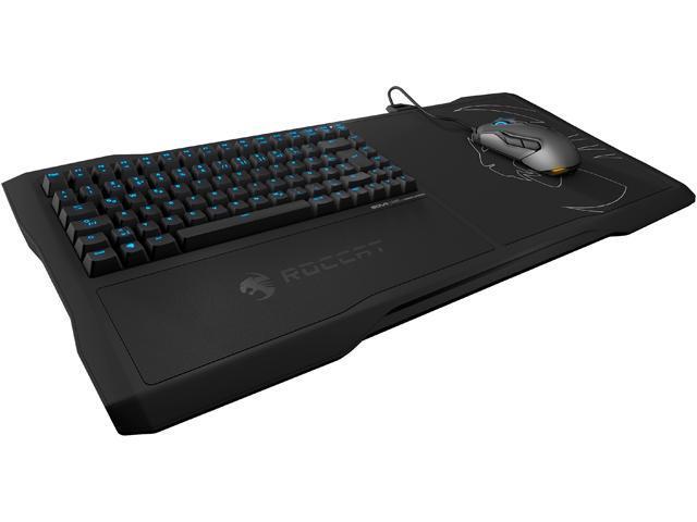 ROCCAT ROC-16-181-BN-AM SOVA Mechanical Gaming Lapboard + Free KOVA Mouse Black