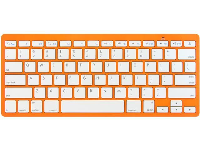 Rocksoul BK-101001OW Orange 10 Function Keys Bluetooth Wireless Slim Keyboard for Apple  Devices