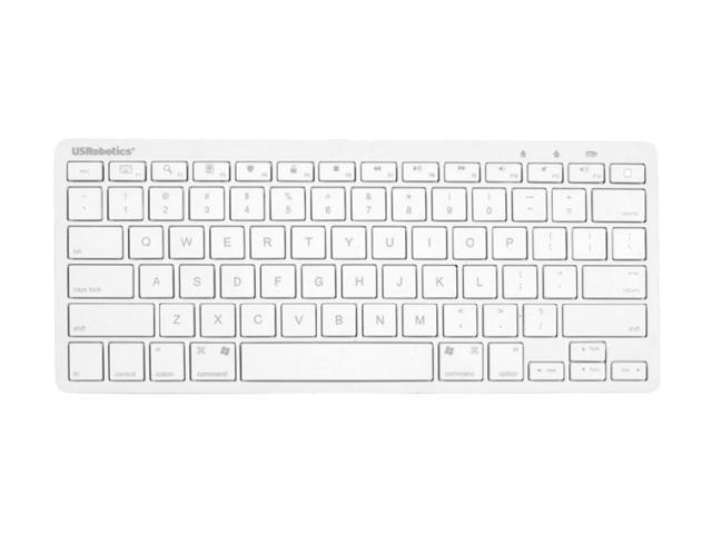 US Robotics USR5500 White Bluetooth Wireless Keyboard