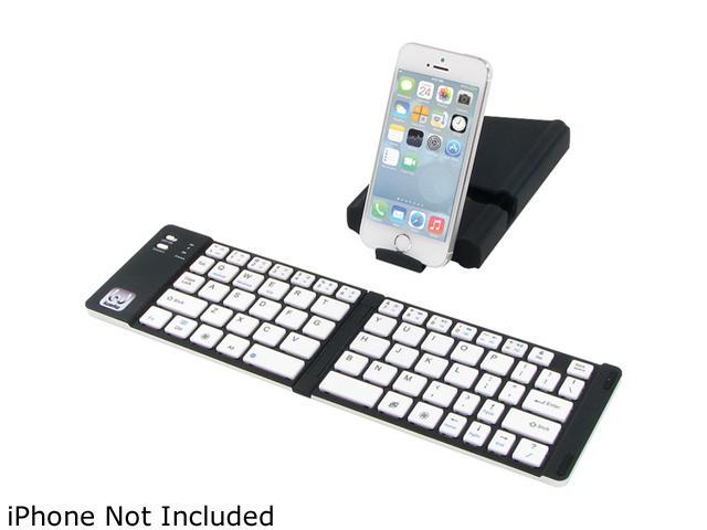 iwerkz 44652BW Black USB Bluetooth Wireless Mini Universal Foldable Keyboard