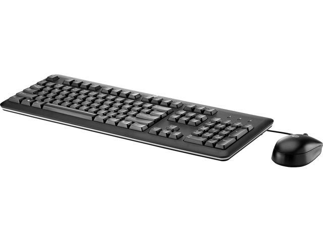 HP B1T09AT#ABA Black USB Wired Keyboard and Mouse with Mouse Pad