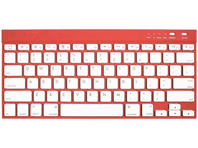 InNuevo 3142KRR Ruby Red Bluetooth Wireless Mini Keyboard