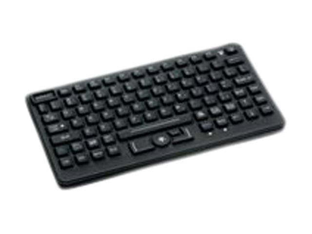 Panasonic iKey SL-86-911-USB-P Black USB Wired Slim Sealed Rubber Backlit USB Keyboard