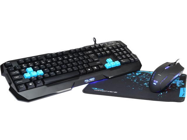 E-Blue EKM820BKAA-US Combo Set KB & Mouse & MousePad