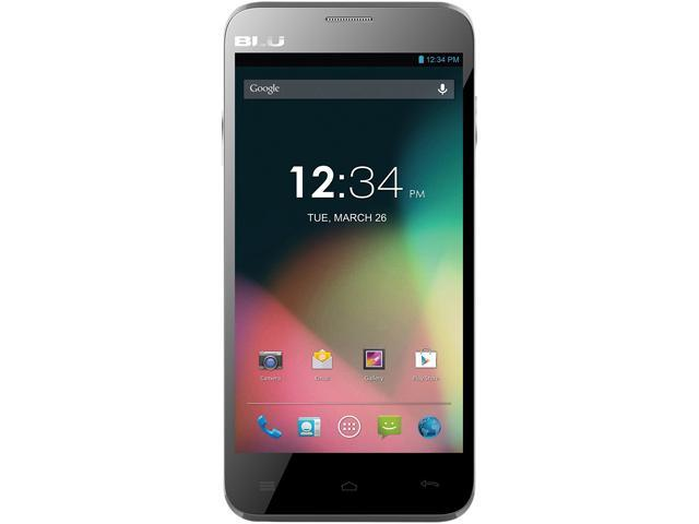 Blu Dash 5.0 D410a Gray 3G Dual-Core 1.3GHz Unlocked GSM Dual-SIM Android Cell Phone