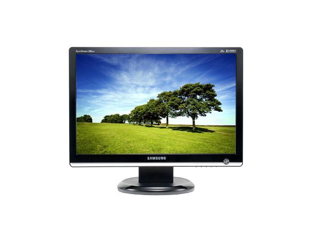 "SAMSUNG 206BW Black 20"" 2 ms (GTG) Widescreen LCD Monitor 300 cd/m2 800:1 (DCR 3000:1)"