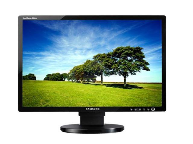 "SAMSUNG 245BW Black 24"" 5ms Widescreen LCD Monitor with Height Adjustment 400 cd/m2 1000:1 (DC 3000:1)"