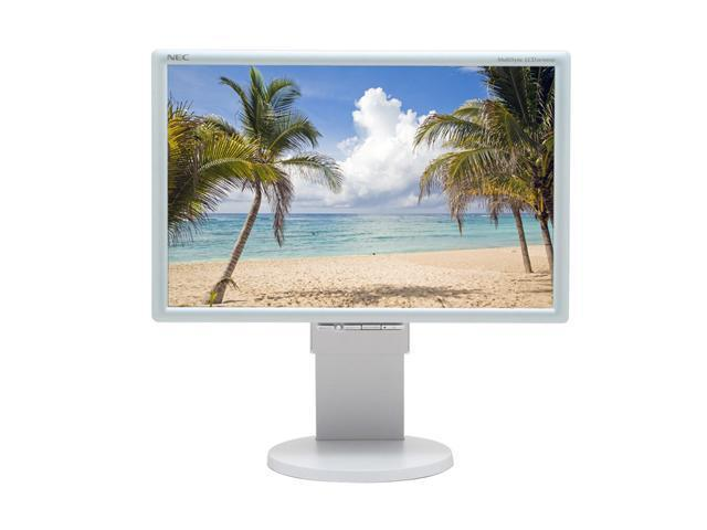 """NEC Display Solutions LCD2070WNX Silver-White 20"""" 10ms Widescreen LCD Monitor with 4-port USB 2.0 hub 300 cd/m2 500:1"""