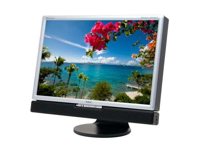 "NEC Display Solutions 20WMGX2-BK Black-Silver 20.1"" 6ms DVI Widescreen LCD Monitor with TV-Tuner & 4-port USB 2.0 hub 470 cd/m2 1600:1 Built in Speakers"