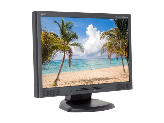 "NEC Display Solutions ASLCD203WXM-BK Black 20.1"" 5ms Widescreen LCD Monitor 300 cd/m2 1000:1 Built-in Speakers"