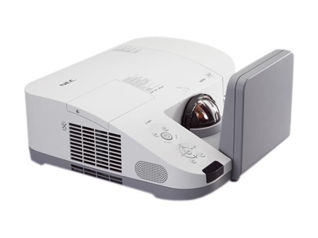 NEC Display Solutions NP-U300X-WK1 1024 x 768 3000 Lumens DLP Ultra Short Throw Projector w/ Wall Mount