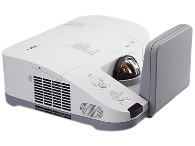 NEC Display Solutions NP-U310W-WK1 1280 x 800 3100 Lumens DLP Widescreen Ultra Short Throw Projector w/ Wall Mount