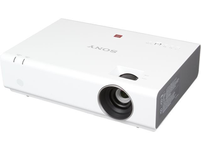 Sony VPLEW225 WXGA 1280x800 2600 Lumens HDMI USB Microphone Inputs 3LCD Compact Portable Projector