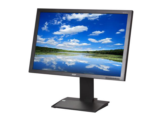"Acer B243PWLKbmdrz Black 24"" 14ms Widescreen LED Backlight Height & Pivot Adjustable IPS LCD Monitor w/ DisplayPort"