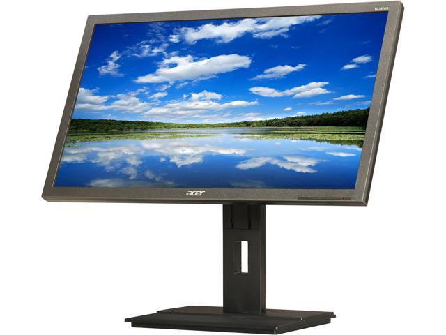 "Acer B6 B276HULymiidprz Black 27"" 6ms (GTG) Widescreen LED Backlight LCD Monitor IPS Built-in Speakers"