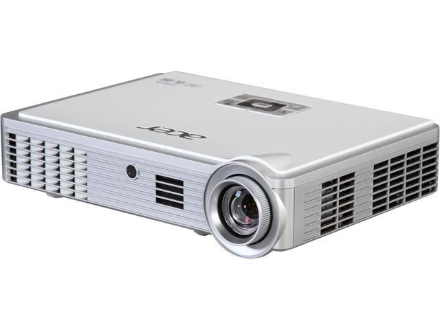 Acer K335 WXGA 1280 x 800, 1000 Lumens, 10000:1 Contract Ratio, HDMI/MHL Input, USB, 3W Speaker, 3D Ready, Portable LED Projector